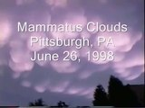 Mammatus Clouds in Pittsburgh PA