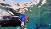 Snorkeling in Santorini Greece 2015
