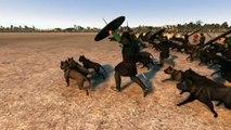 Total War  Attila   3,500 Dogs Besiege 200 Elephants | elephants and dogs | elephants and dogs