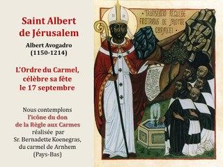 9. Prier avec l'icône de Saint Albert de Jérusalem