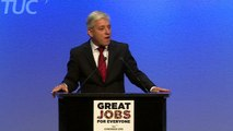 Speaker John Bercow jokes about height at TUC Congress