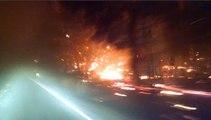 Californie : un automobiliste s'échappe d'un violent incendie