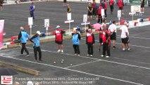 Mène 9, Finale du France Quadrettes Vétérans, Sport Boules, Objat 2015