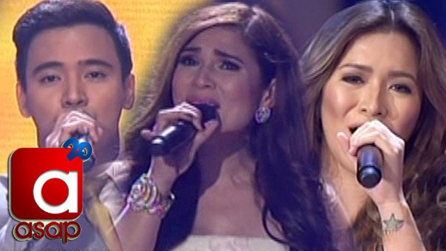 ASAP: Angeline, Erik & Vina sing ABS-CBN Teleserye Theme Songs