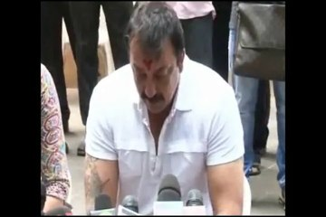 sanjay dutt's first press conference after the jail verdict
