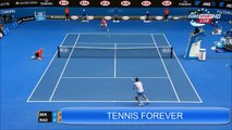 Rafael Nadal vs Tomas Berdych ~ Amazing Point~ Australian Open    2015
