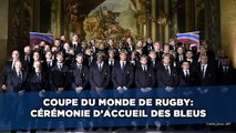 Coupe du monde de rugby: L'arrivée des Bleus à leur cérémonie de bienvenue