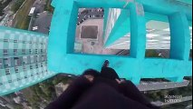 This is nuts Watch Russian adrenaline junkies perform daring tricks atop a 40-story building.