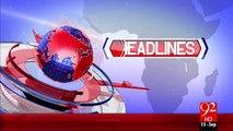 Headlines - 10:00 AM – 15 Sep 15 - 92 News HD