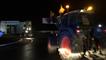 Partis de Vitré, dix agriculteurs sur la RN 157 vers Rennes
