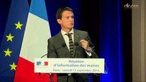 Réunion d'information des maires - Clôture de Manuel Valls