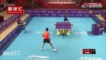 Chinese table tennis players play insane 42 shots Point! Most intense rally you'll ever see