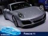 Porsche 911 restylée en direct du salon de Francfort 2015