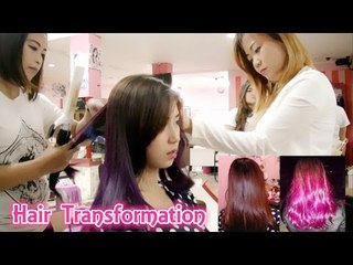 (Hair Journey) Ombre Purple Hair Transformation, and special time with SAGA