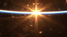 Russian cosmonaut Mikhail Kornienko films breathtaking sunset from ISS