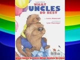 What Aunts Do Best/What Uncles Do Best Free Download Book