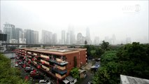 Kuala Lumpur dans le brouillard à cause de feux de forêts en Indonésie