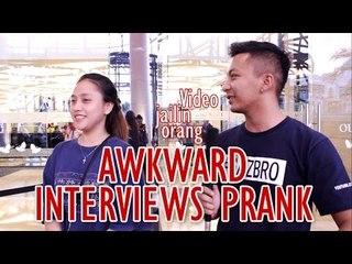 Awkward Wawancara Prank | Kenapa pizza bungkusnya kotak?