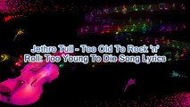 Jethro Tull – Too Old To Rock 'n' Roll Too Young To Die Song Lyrics
