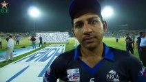 Exclusive Interview of Sarfaraz Ahmed of Karachi Blues Team at Rawalpindi Cricket Stadium (Sep 14, 2015)