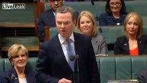 Christopher Pyne calls Shorten C-bomb in parliament