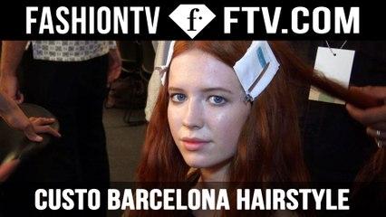 Custo Barcelona Hairstyle Spring/Summer 2016 | New York Fashion Week NYFW | FTV.com