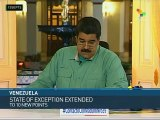 Venezuela: Maduro Extends State of Exception to 10 More Municipalities