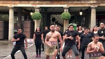 Rugby- Jonah Lomu performs the haka in London 13 years after his last ALL BLACKS MATCH