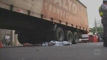 Ciclista morre atropelado por caminhão em São Paulo