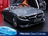Mercedes Classe S Cabriolet en direct du salon de Francfort 2015