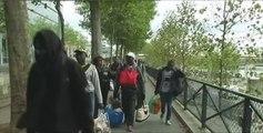 L'évacuation de deux camps de migrants à Paris, à travers nos télés