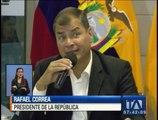 Correa se solidariza con Chile tras el terremoto de 8.4 grados