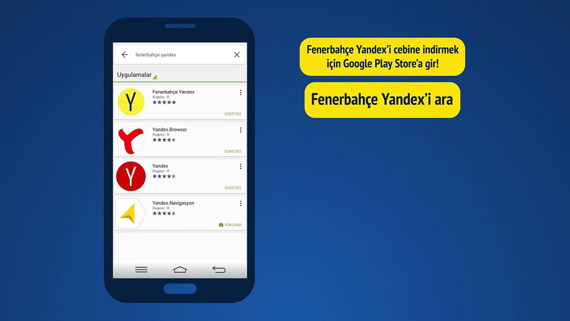 Fenerbahçe Yandex Android'de Dünya Yıldızları Cebinde!