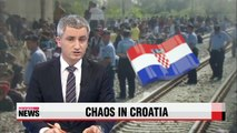 Chaos at Croatia border as police struggle to control influx of refugees