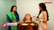 Elli Avram's Ganpati Pooja on zoom - EXCLUSIVE