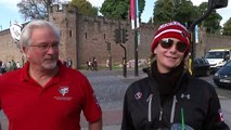 Rugby ball 'crashes' into Cardiff Castle wall