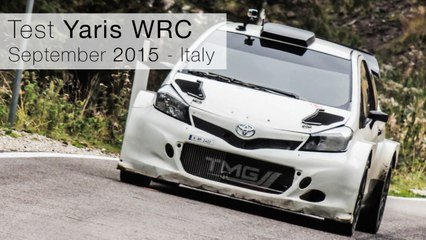 Toyota Yaris WRC - Test Italy, september 2015