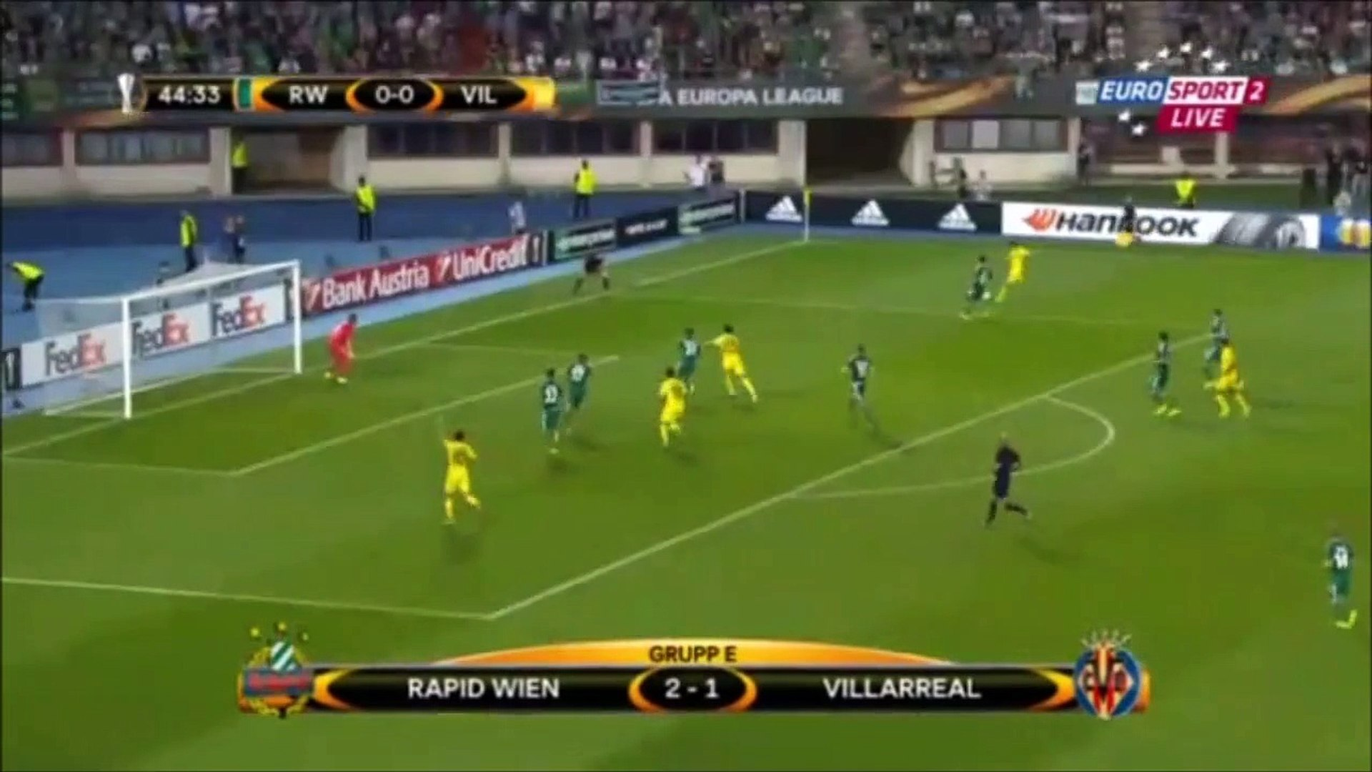 Sk Rapid Wien 2 1 Villarreal Cf Video Dailymotion
