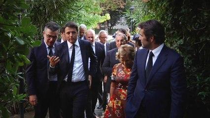 Matteo Renzi visita BLUMARINE