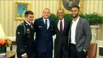 Les trois héros américains de l'attaque du train Thalys reçus à la Maison Blanche