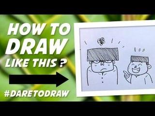 Cara Menggambar Songkok Kedodoran