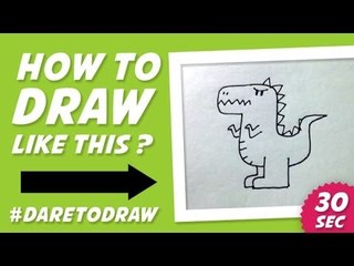 How to Draw a Dragon in 30 Seconds - Cara Menggambar Naga