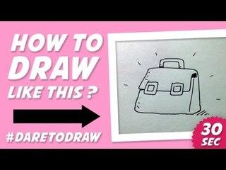 How to Draw a Bag in 30 Seconds - Cara Menggambar Tas