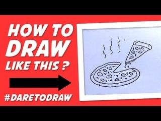How to Draw a Pizza - Cara Menggambar Pizza