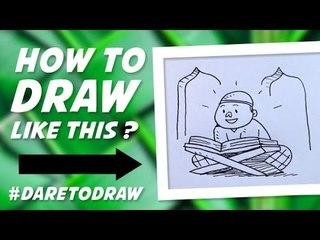 Cara Menggambar Anak Mengaji