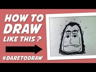 How to Draw Gorilla - Cara Menggambar Gorilla