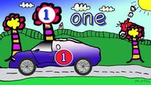 Count the Cars | Count 1-10 | Numbers | McQueen | Counting | Car Counting | Kids Learn to Count | Kid's Voice | Musical