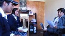 Entrevista sobre la patrona Virgen de las Mercedes, del Colegio Julio Cesar Benavente