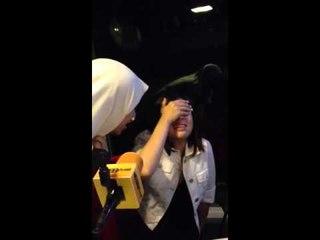 Gina ketakutan pas siaran by @indrabektiasli and @missdongdong