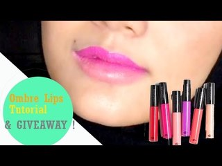3 Easy Ombre Lips Tutorial & MUFE GiVeaway | Indonesia | Linda Kayhz